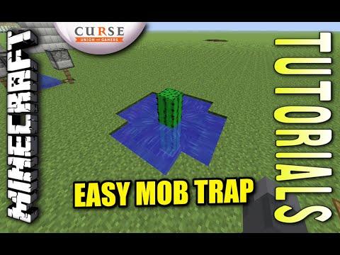 Minecraft PS4 - EASY MOB TRAP - Tutorial ( PE / PS3 / XBOX / WII U )