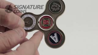 Custom Spinner Challenge Coins - Signature Coins