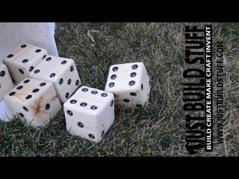 How I Made a Set of Yard dice from a 4