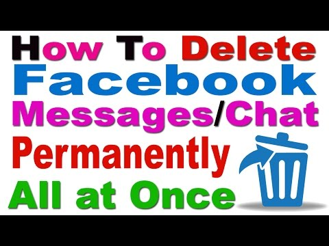 How To Delete Facebook Messages/Chat Permanently All At Once In Hindi/Urdu-2016
