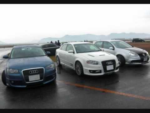 Audi A4 B7 2.0 Quattro 0-400m Race at Kasaoka Airport