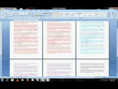Use different watermarks on different pages in MS-Word