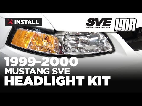 1999-2004 Mustang SVE 99-00 Style Headlight Kit - Install & Review