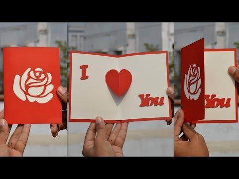 DIY - I Love You Pop up Card | Valentine Card
