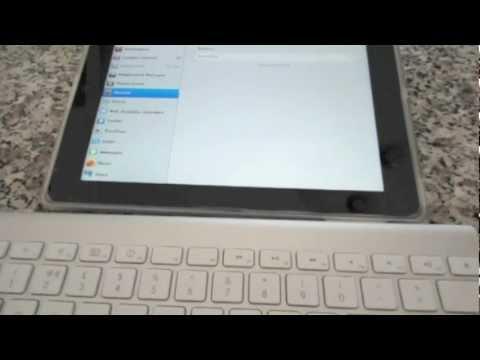 How to use wireless Apple keyboard with iPad