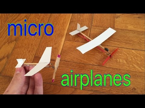 The world's smallest airplanes with rubber band engine