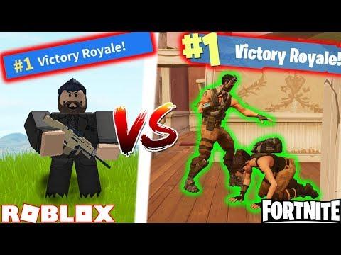 SOLO SQUAD CHALLENGE!! | Roblox Fortnite VS Real Fortnite #5