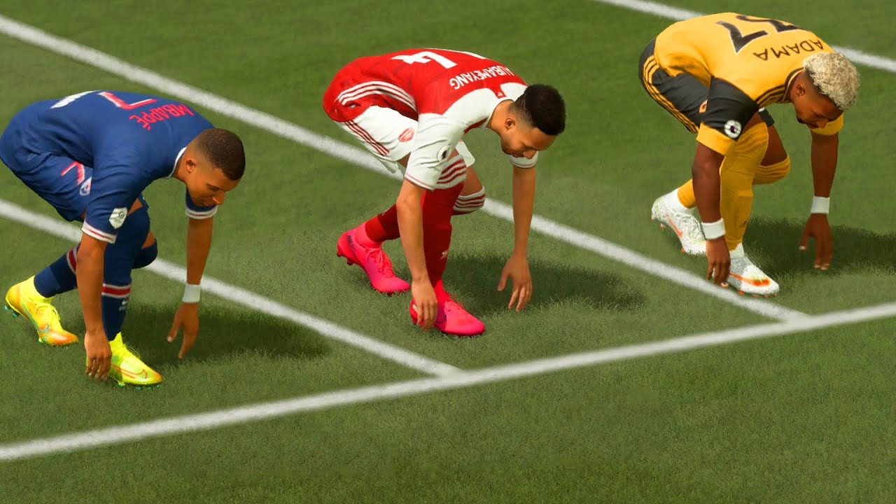 FIFA 21 SPEED TEST (without the ball) | Who is the fastest player in the game?