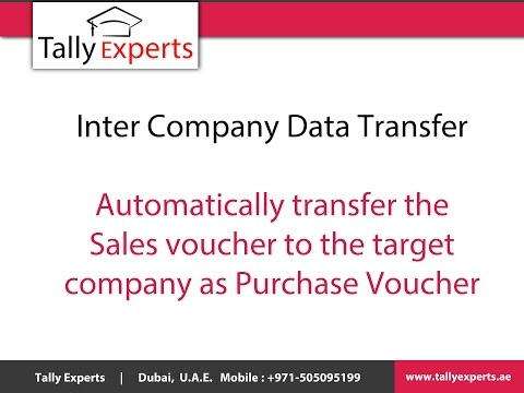 Tally.ERP9 Add On for Inter Company Data Transfer