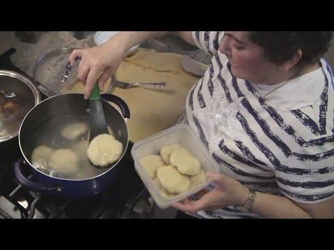 Angelo Teaches His Mom How to Make Boiled Jamaican Dumplings w/ Cornmeal