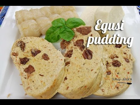 Egusi pudding