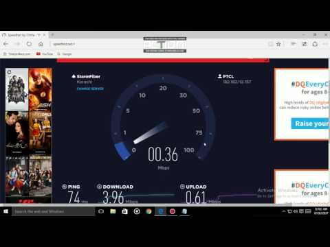 ptcl wifi 4mbps speed test