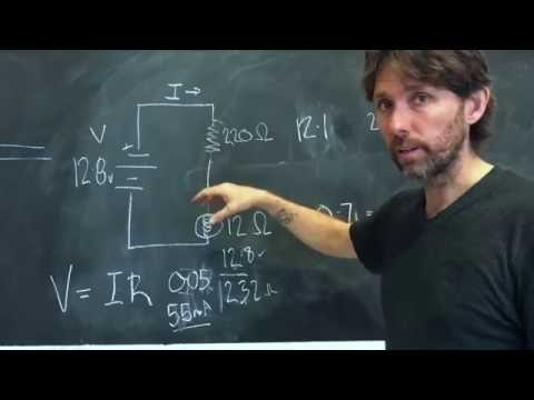 Measuring voltage drop and understanding Ohm's Law