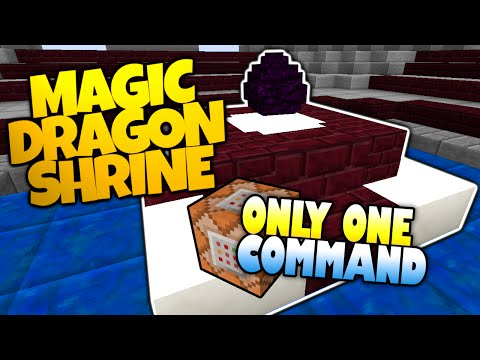Minecraft | MAGIC DRAGON EGG SHRINE | Fly Through The Skies! | Only One Command (Minecraft Redstone)