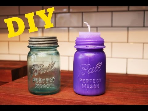 Make Vintage Bottle Candles | Advanced Candle Making Tutorial | DIY with Caitlin