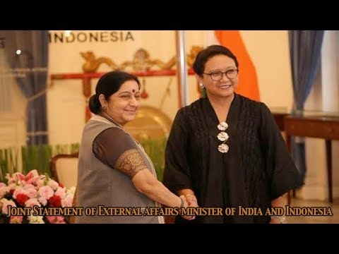 Joint Statement of External affairs minister of India and Indonesia in Jakarta : Newspoint Tv