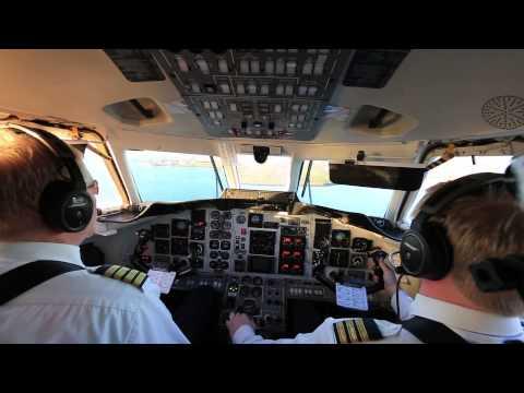Beautiful Landing, Reykjavik Airport, Iceland, British Aerospace Jetstream
