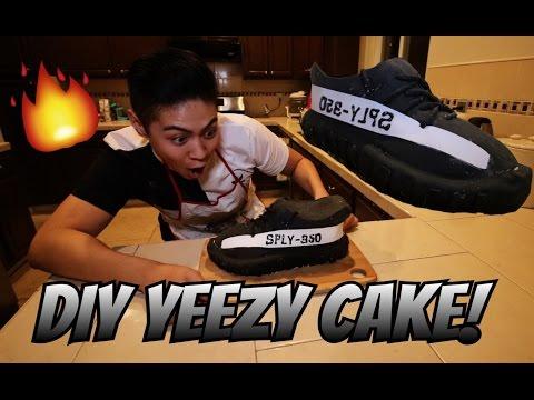DIY YEEZY CAKE! HOW TO MAKE A SNEAKER CAKE!