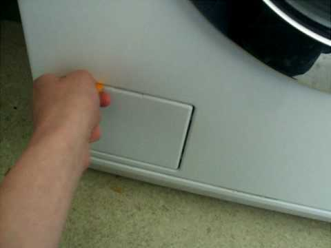 How to open the door to a Miele washing machine with no power