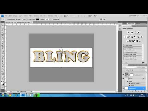 bling text rap style diamonds photoshop cs4 tutorial