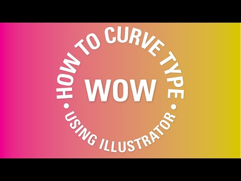 How to curve type around a badge using Illustrator - Adobe Illustrator CC 2018 [14/39]