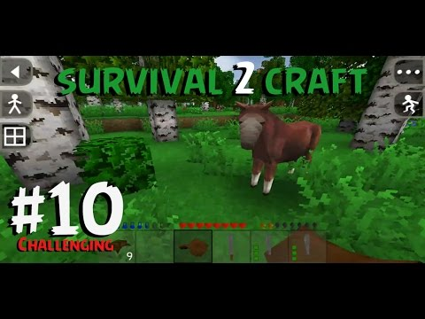SurvivalCraft 2 - CHALLENGING #10 | Finding horse