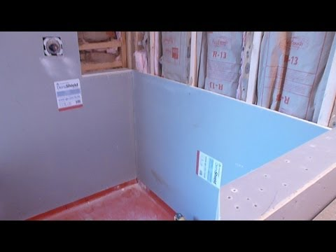 How to install shower surround tile backer board, durock or cement board -   PART