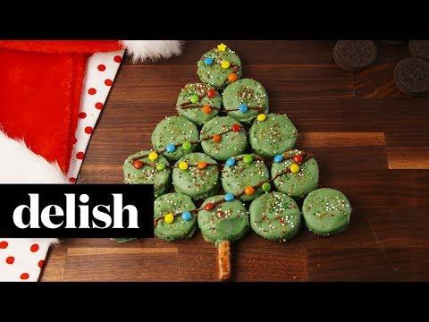 Oreo Christmas Trees | Delish