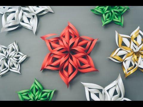 3D Paper Snowflake Tutorial