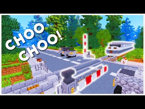 Minecraft - How To Make A Train Crossing Barrier