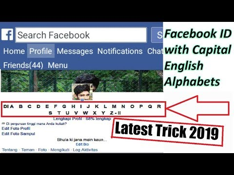 how to create facebook id with capital English Alphabets in 2019 easiest trick