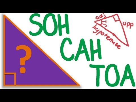 Maths Tutorial: Trigonometry SOH CAH TOA (trigonometric ratios)