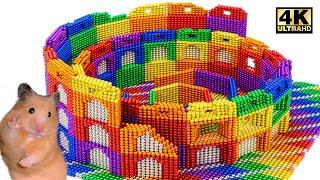 DIY - HowTo Make Playground Colosseum Rome For Hamster (ASMR Satisfying) | Magnet World Series #224