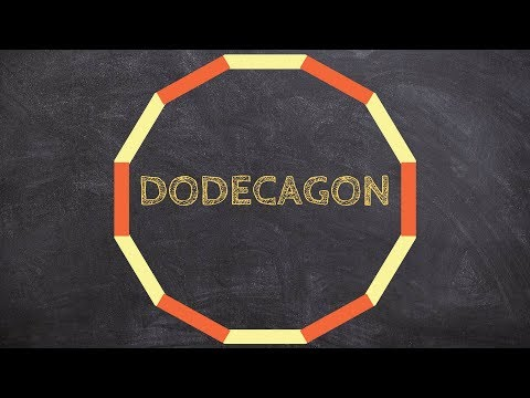 How to find the individual measurement of an interior angle for a regular dodecagon