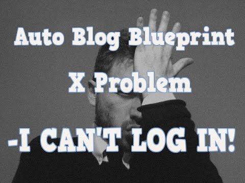 Auto blog Blueprint X member login problem