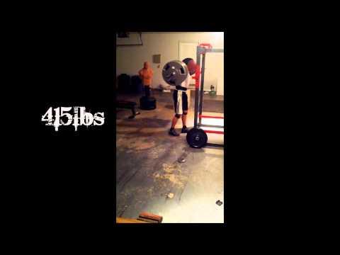 405 & 415 Squat PR with Broken Rib