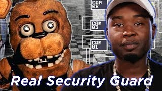 """Real Security Guard Tries Surviving """"Five Nights At Freddy"""