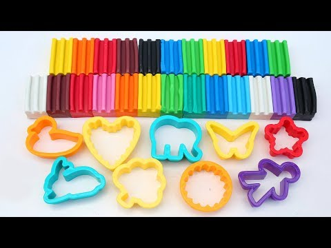 Real Rainbow Modelling Clay From Crayola Learn Colors And Create With Clay