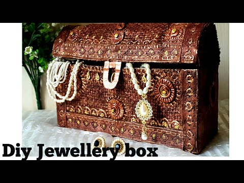 Jewellery box diy I How to make antique cardboard jewellery box at home | colours Creativity Space