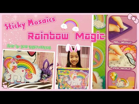 Easy DIY Room Decor idea by Sticky Mosaics Rainbow Magic | RG Selena