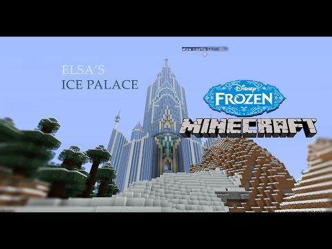 elsa ice castle disney frozen - minecraft