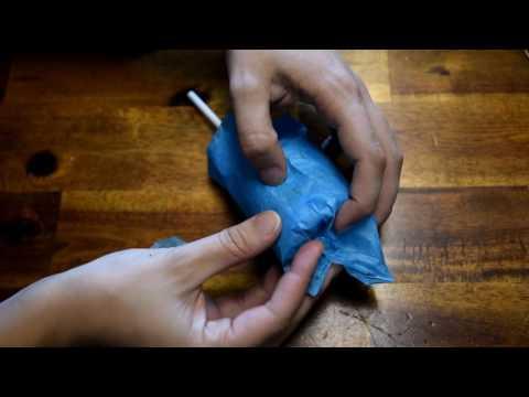 DIY Diaper Baby Rattle Party Favor