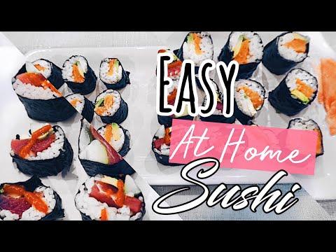 How to make: SUSHI ROLLS | 6 EASY STEPS | DIY SUSHI