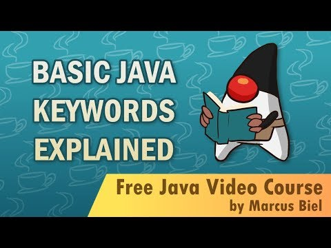 Java for Beginners 2 - Basic Java keywords explained - Coding Session