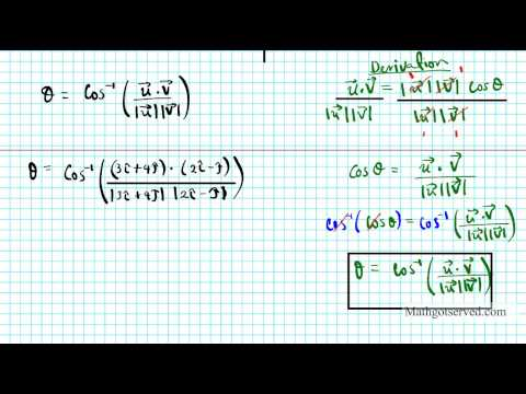 How to finding the angle between two vectors Precalculus