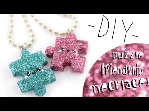 Puzzle Friendship Necklaces! -DIY- | Kawaii Friday
