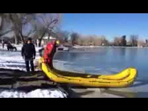 Goose gets rescued at Wash Park