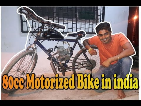 80cc motorized bicycle in india | First Time Riding 80cc engine bike | bullet singh boisar
