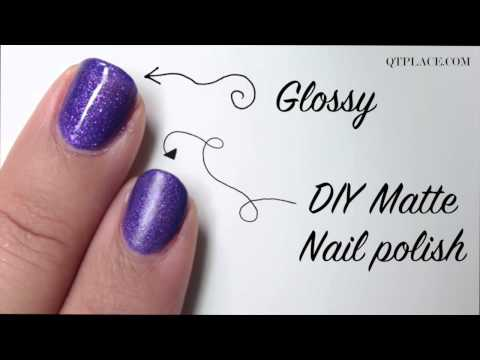 DIY how to make matte nail polish