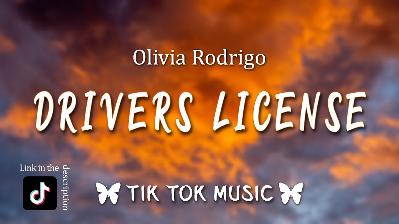 """Olivia Rodrigo - Drivers License Tiktok Song ( Lyrics )"""" red light stop signs I still see your face"""""""